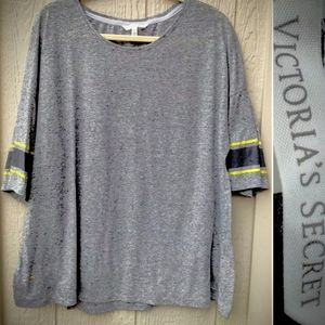 Victoria's Secret relaxed stripe sleeve tee